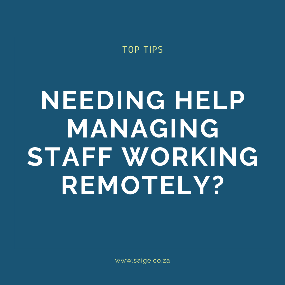 Top tips on managing staff working remotely